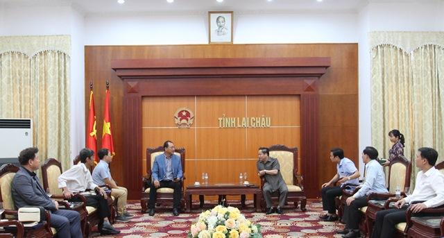 Đồng chí Tống Thanh Hải - UV BTV Tỉnh ủy, Phó Chủ tịch Thường trực UBND tỉnh tiếp Đoàn công tác Hiệp hội các doanh nghiệp nhỏ và vừa Hàn Quốc tại Việt Nam