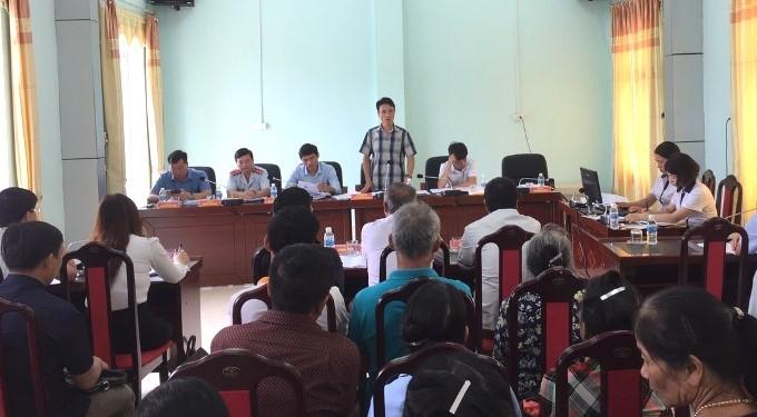 Đồng chí Hà Trọng Hải - Phó Chủ tịch UBND tỉnh trả lời ý kiến kiến nghị của công dân.