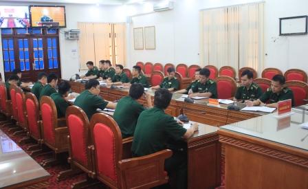 Quang cảnh hội nghị tại điểm cầuBộ CHQS tỉnh Lai Châu