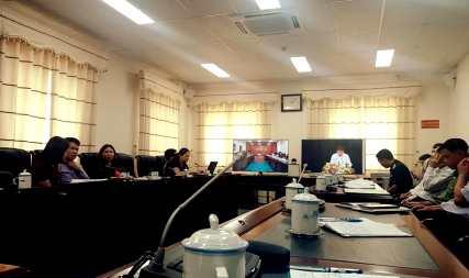 Quang cảnh dự hội nghị tại điểm cầu Lai Châu