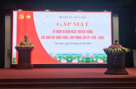 Đc Phan Văn Nguyên - Phó Bí thư Thường trực Huyện ủy, Chủ tịch HDND huyện phát biểu chào mừng