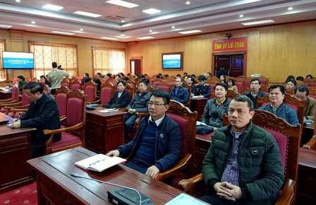 Quang cảnh Hội nghị tại điểm cầu Lai Châu