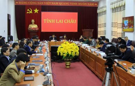 Các đại biểu dự tại điểm cẩu Lai Châu