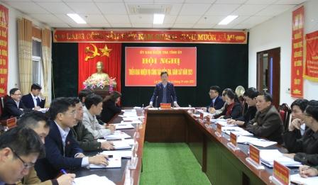 Đồng chí Nguyễn Ngọc Vinh - Ủy viên BTV Tỉnh ủy -  Chủ nhiệm Ủy ban Kiếm tra Tỉnh ủy phát biểu kết luận tại Hội nghị.
