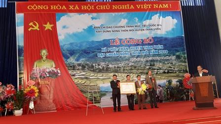 Lễ công bố Xã Phúc Than, huyện Than Uyên đạt chuẩn nông thôn mới